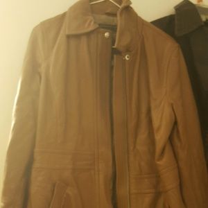 Coach Jackets & Coats - Womens long coach leather brown jacket